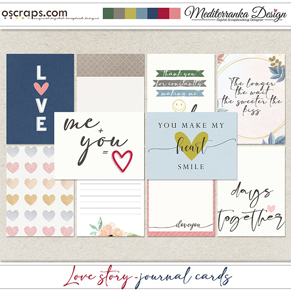 Love story (Journal cards)