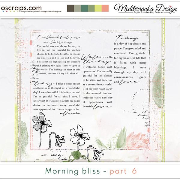 Morning bliss - part 6 (Mini kit)