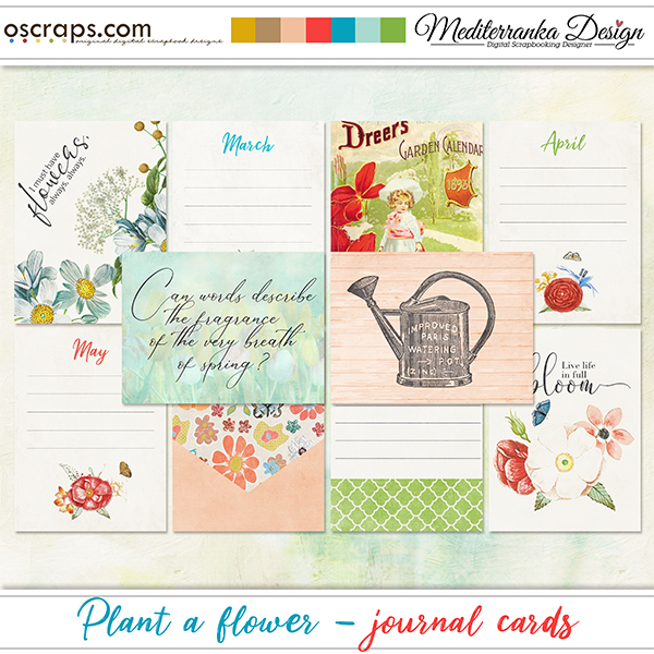 Plant a flower (Journal cards)