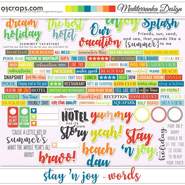 Stay 'n joy (Words)