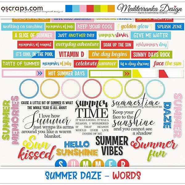 Summer daze (Words)