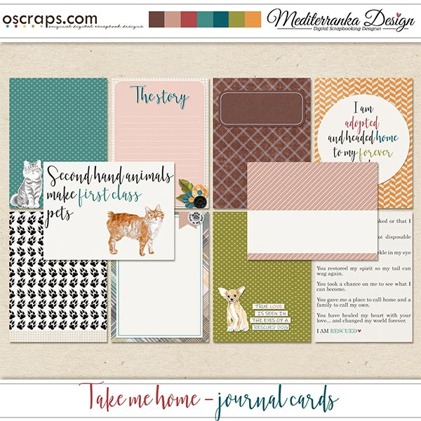 Take me home (Journal cards)
