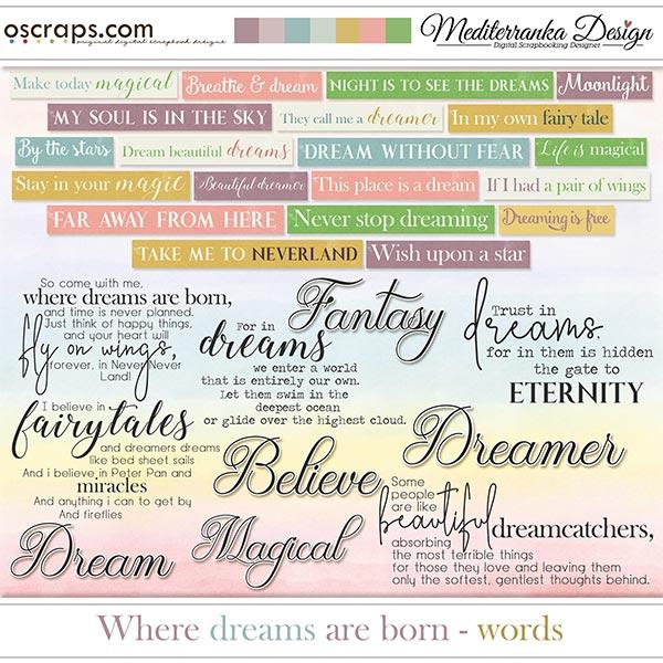 Where dreams are born (Words)