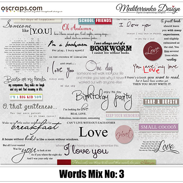 Words Mix - Pack 3