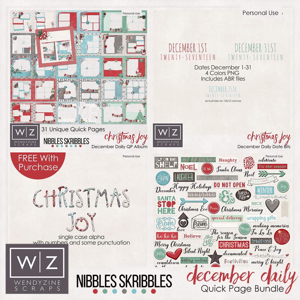Christmas Joy December Quick Page Bundle