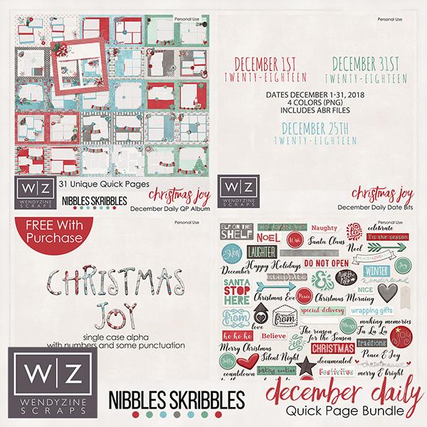 Christmas Joy December Quick Page Bundle 2018