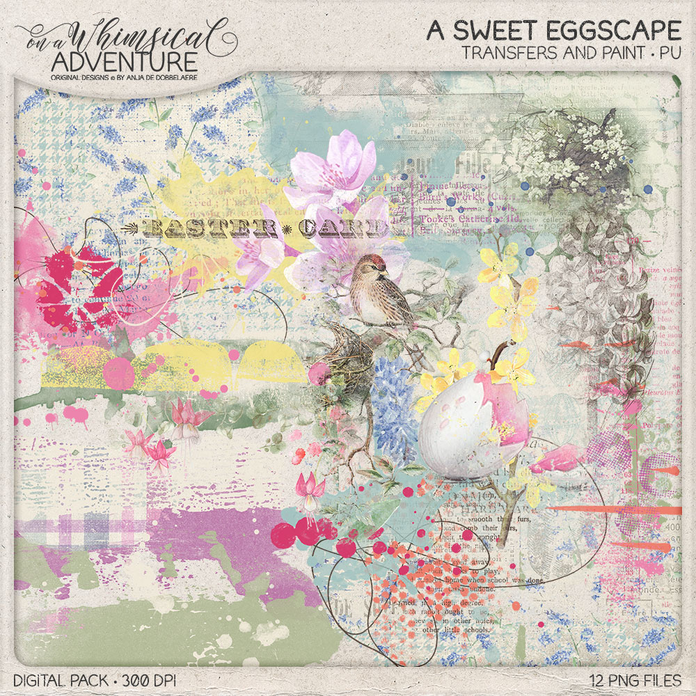 A Sweet Eggscape Transfers And Paint