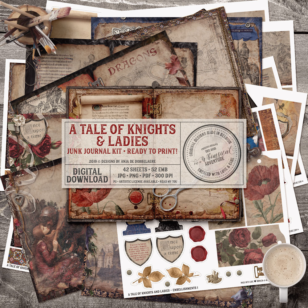 A Tale Of Knights And Ladies Junk Journal Kit