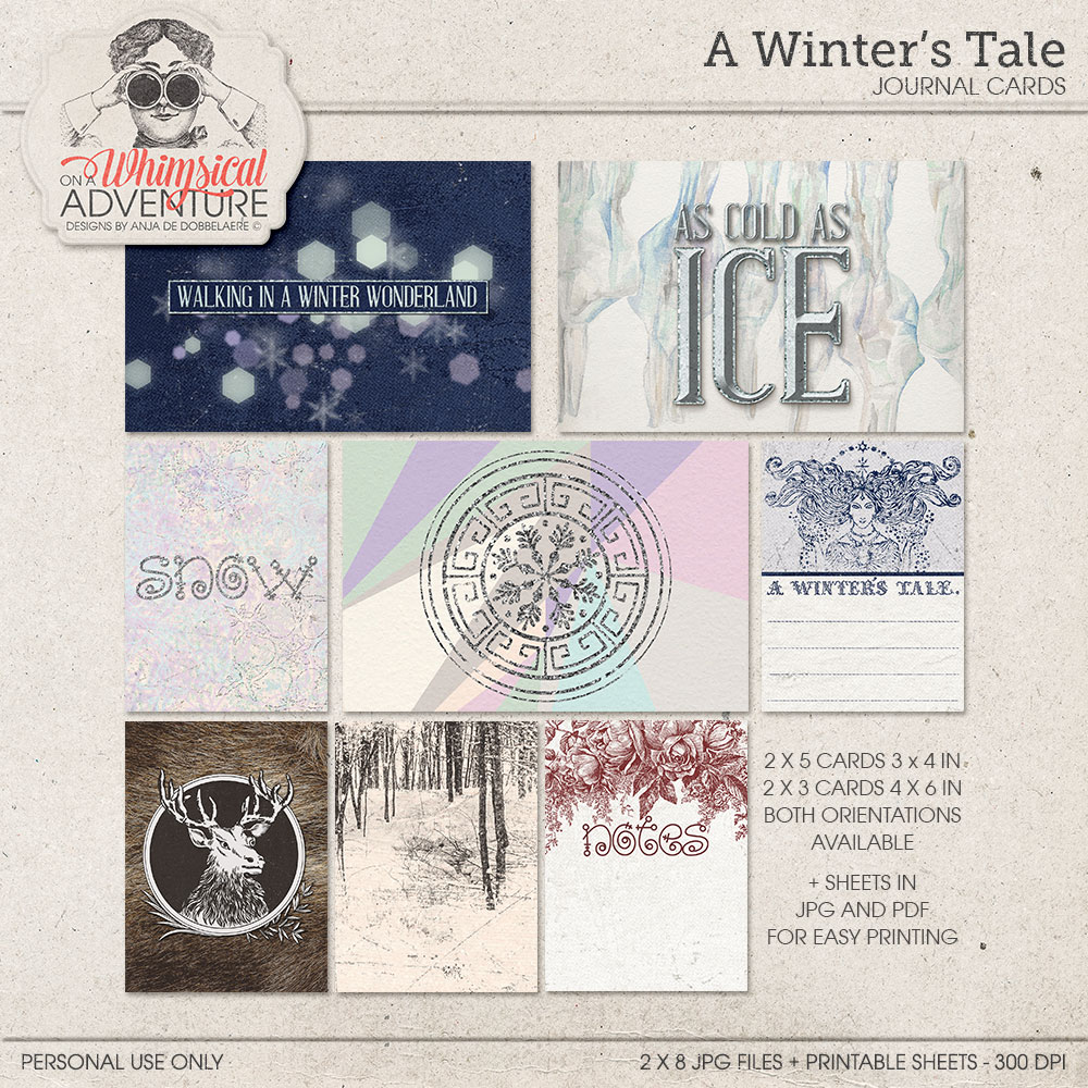A Winter's Tale Journal Cards