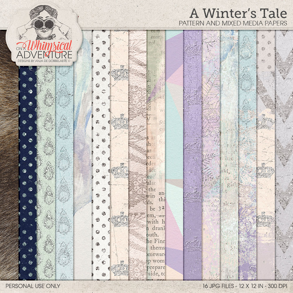 A Winter's Tale Pattern And Mixed Media Papers