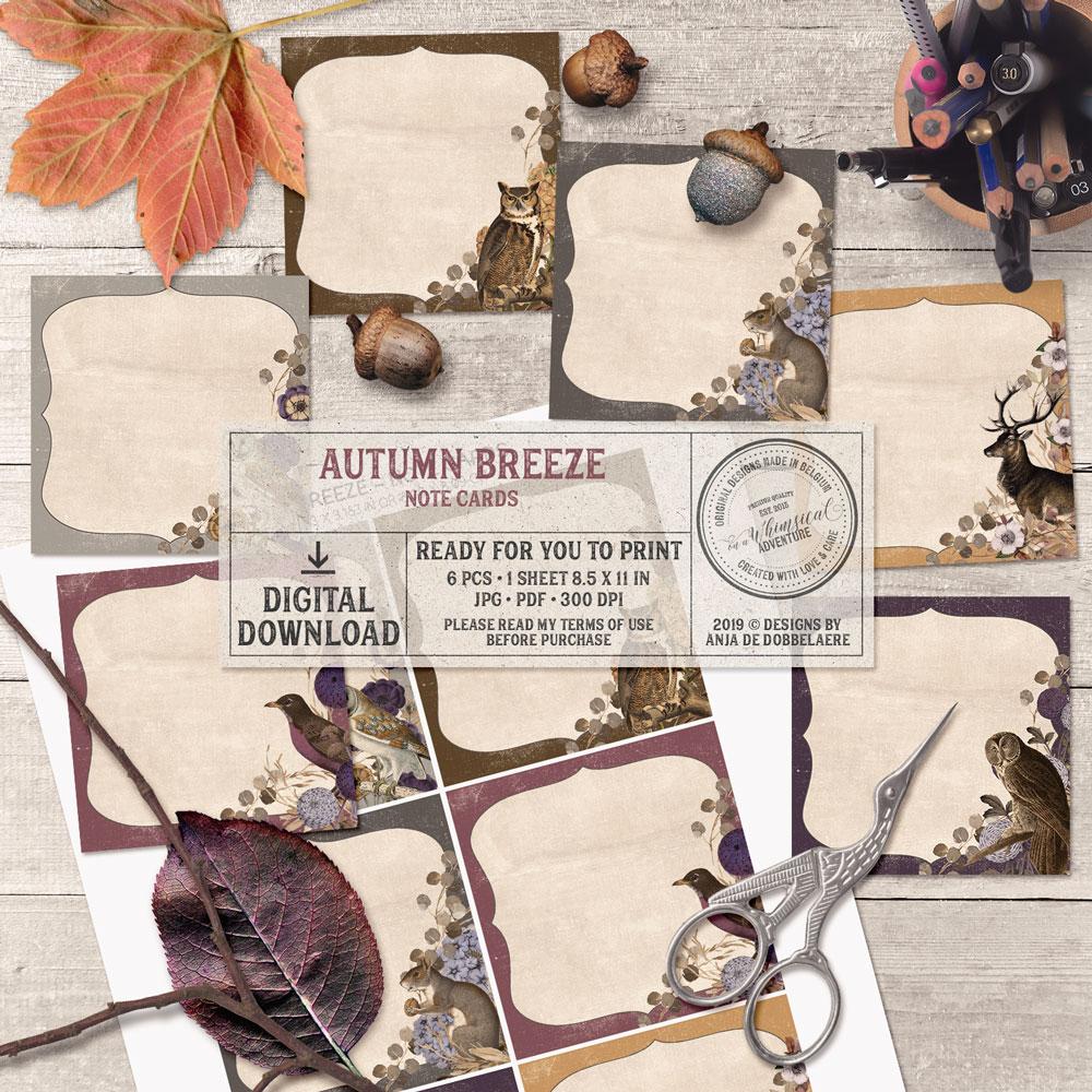 Autumn Breeze Note Cards