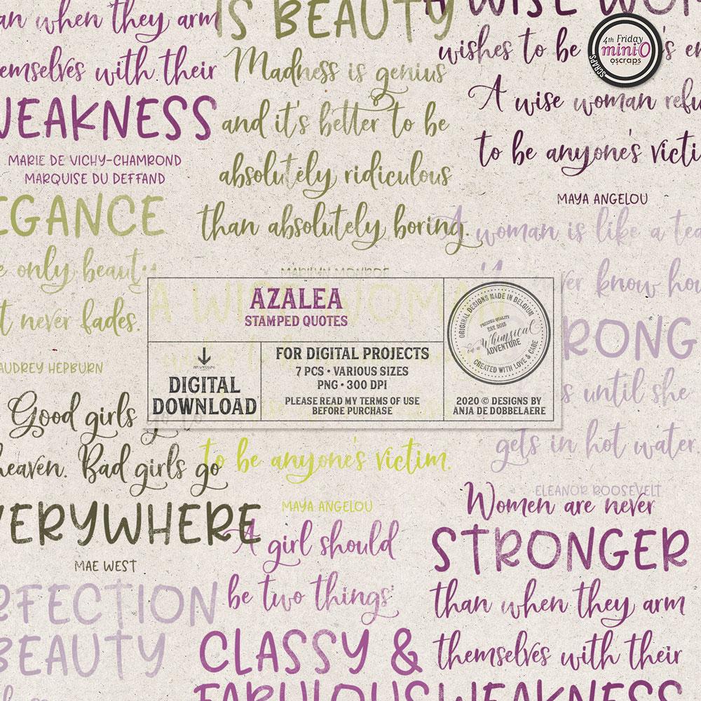 Azalea Stamped Quotes
