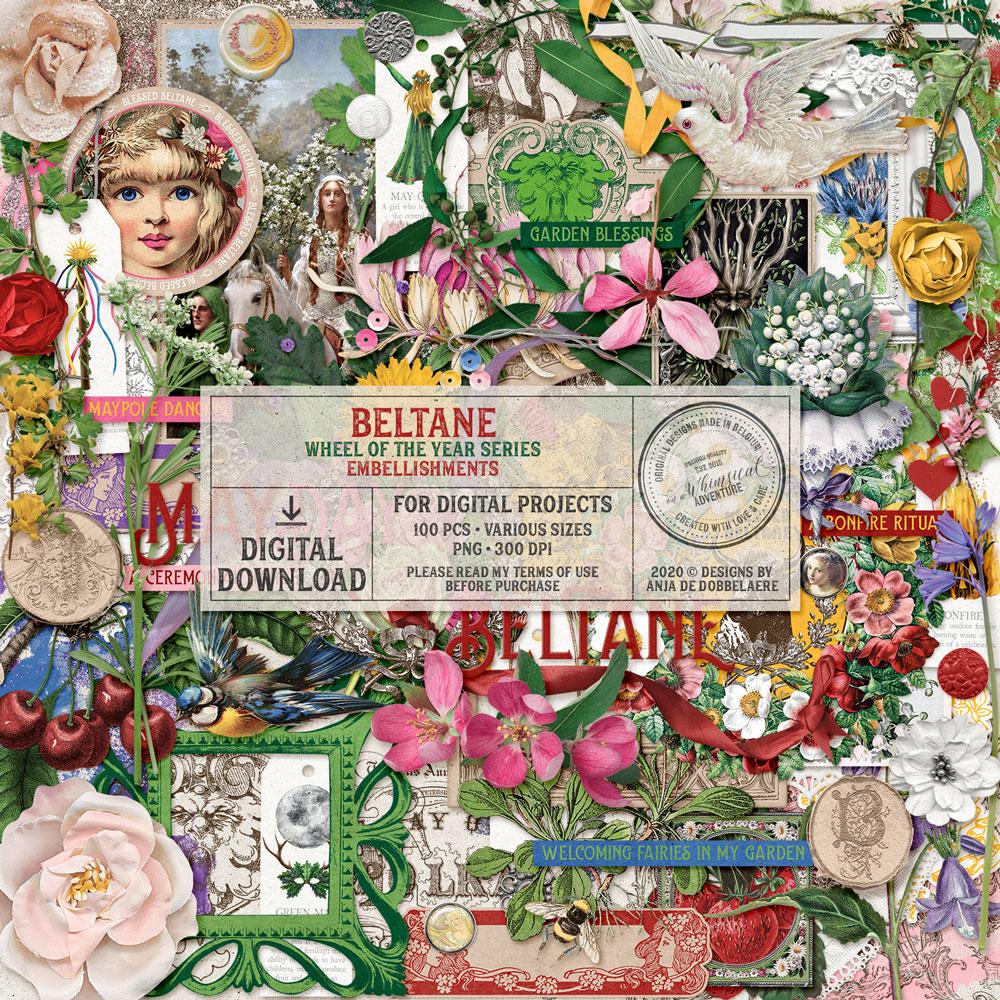 Wheel Of The Year Beltane Embellishments