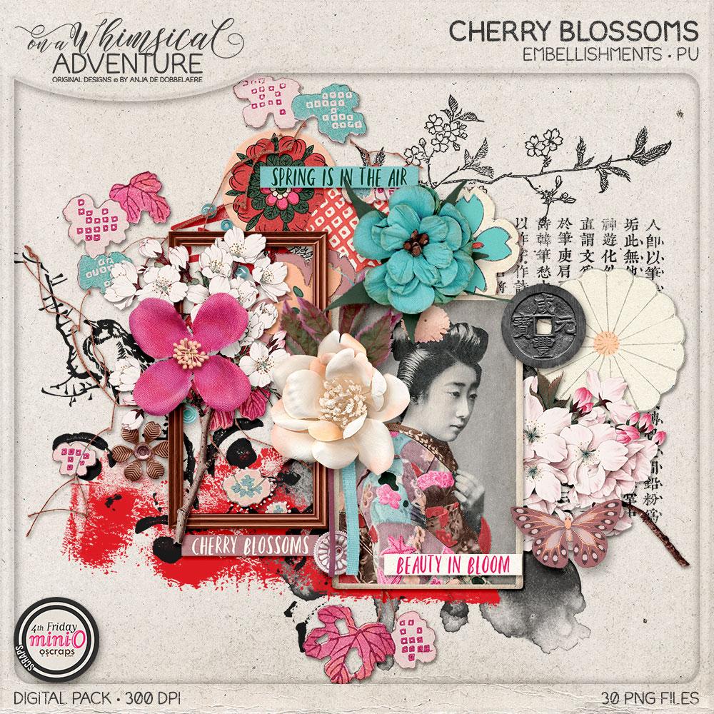 Cherry Blossoms Embellishments