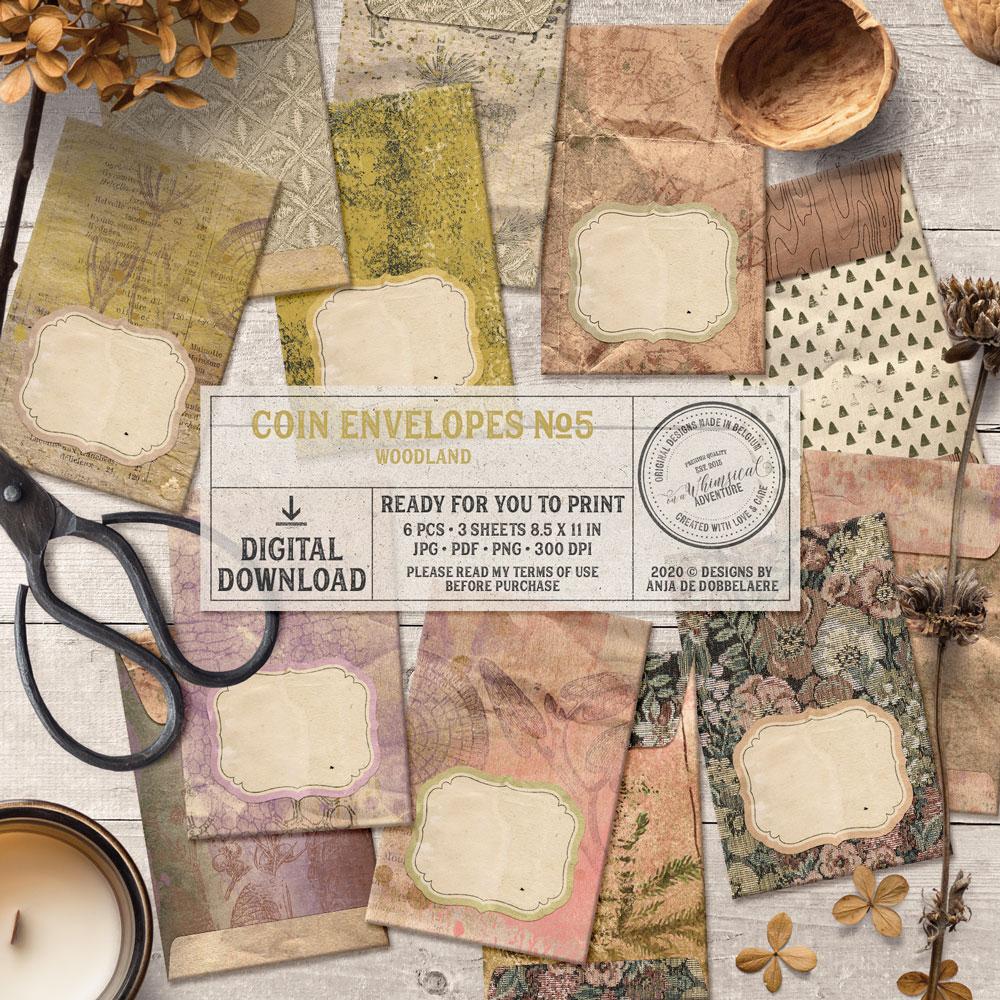 Coin Envelopes No5 Woodland