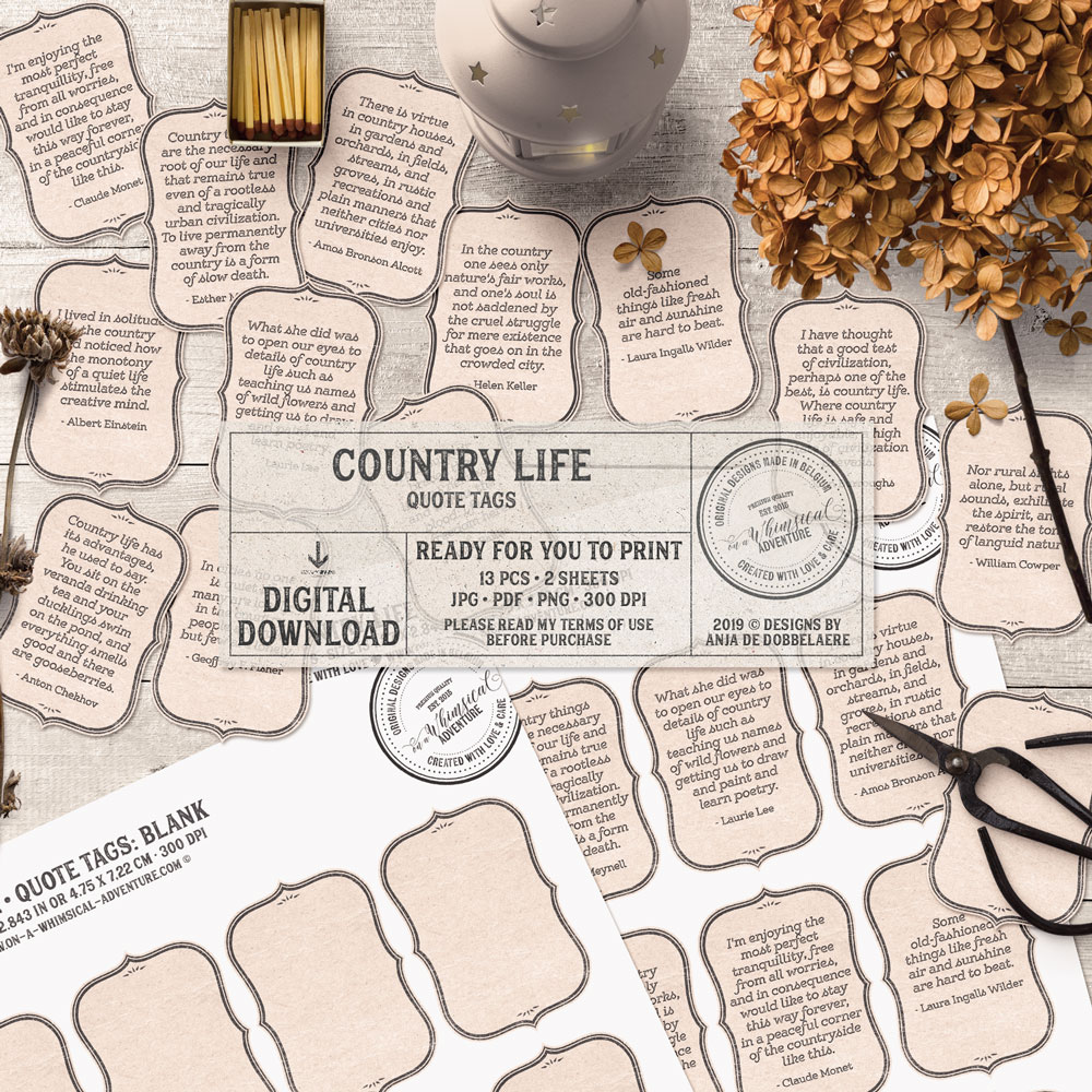 Country Life Quote Tags