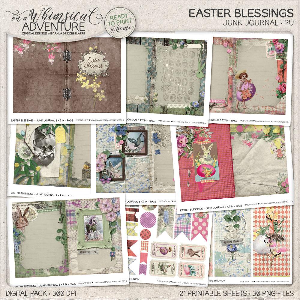 Easter Blessings Junk Journal Kit