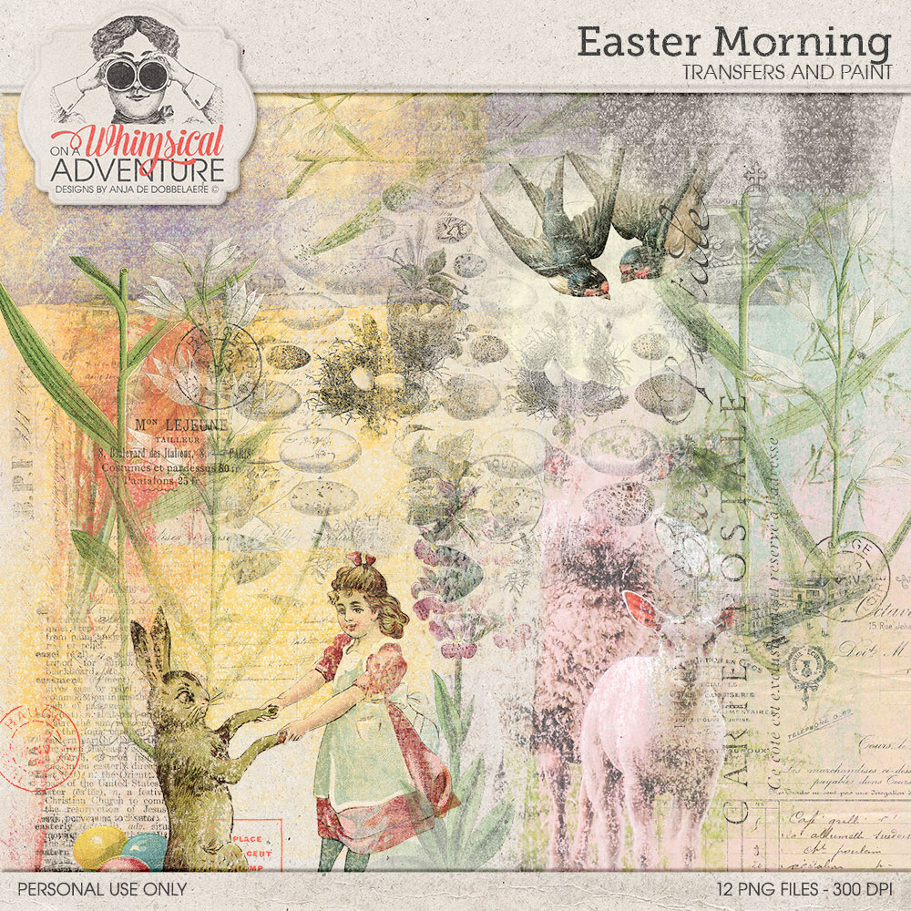 Easter Morning Transfers And Paint