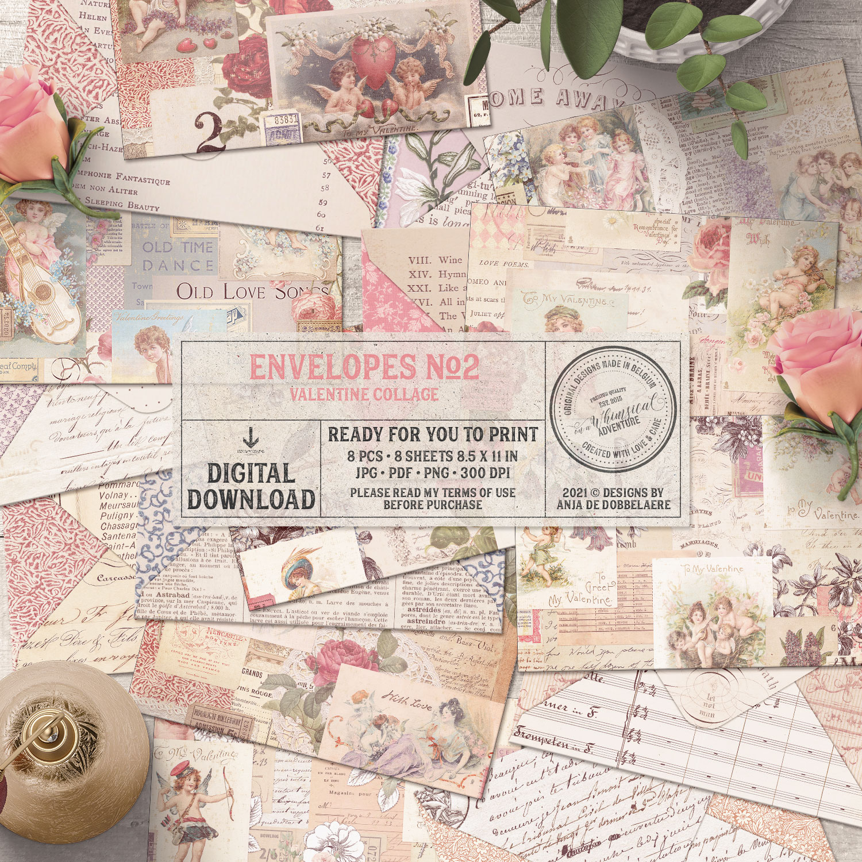 Envelopes No2 Valentine Collage