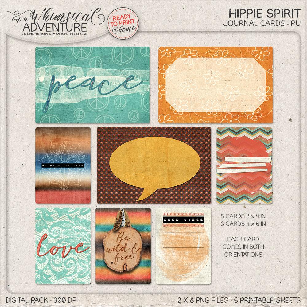Hippie Spirit Journal Cards