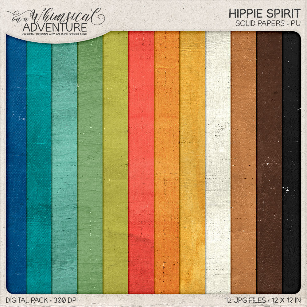 Hippie Spirit Solid Papers