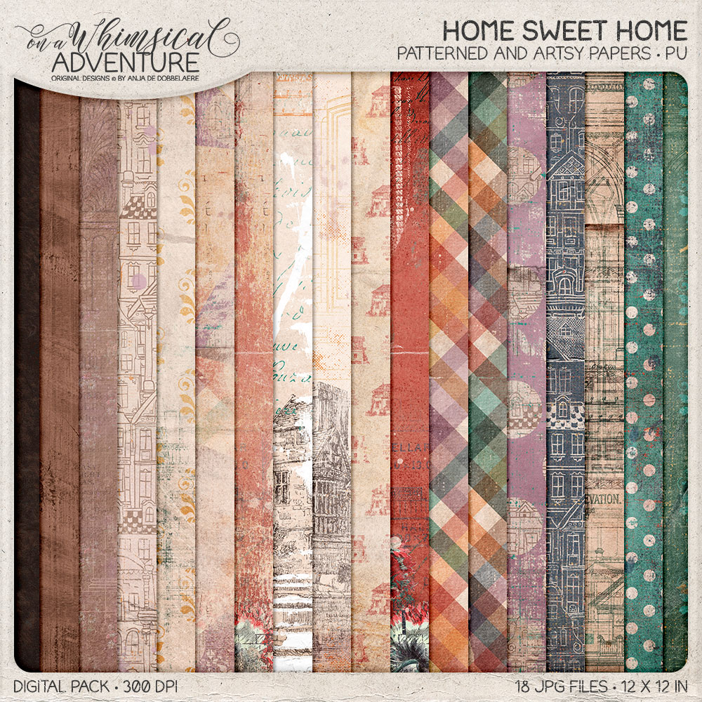 Home Sweet Home Patterned and Artsy Papers