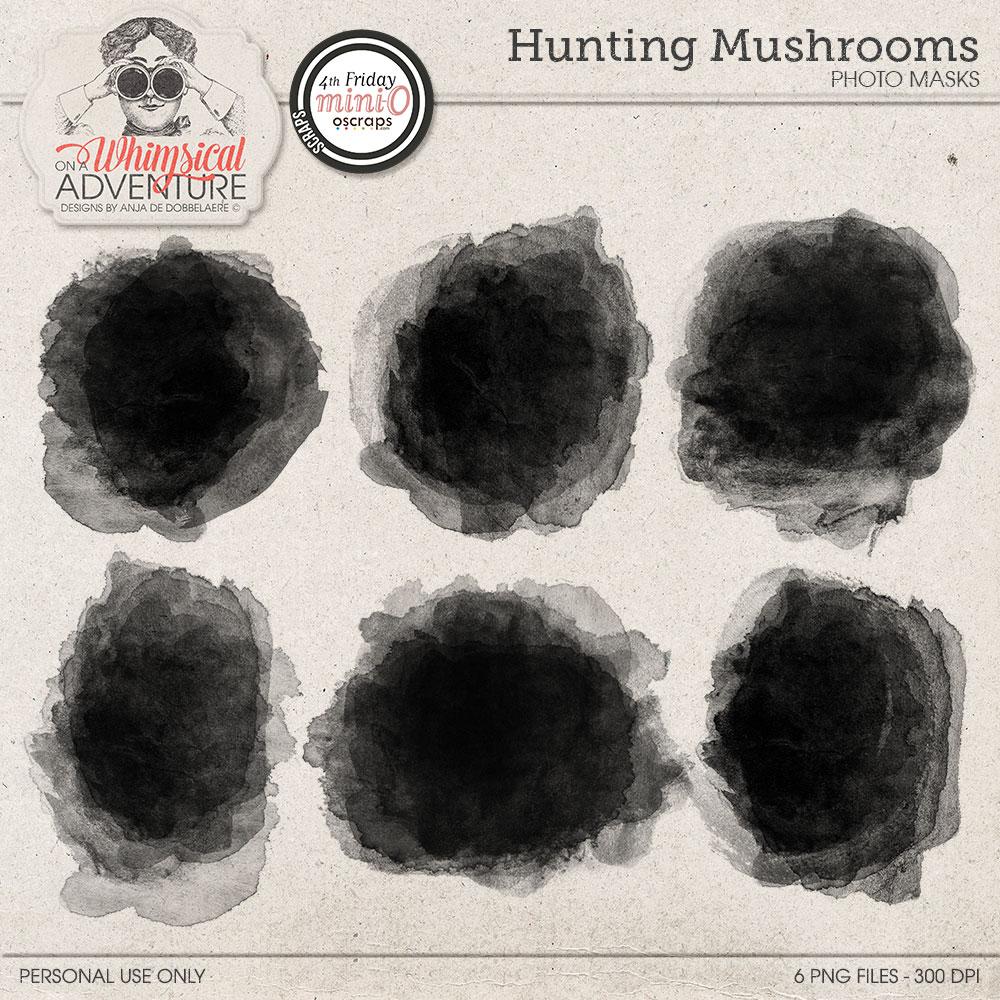 Hunting Mushrooms Photo Masks Mini O
