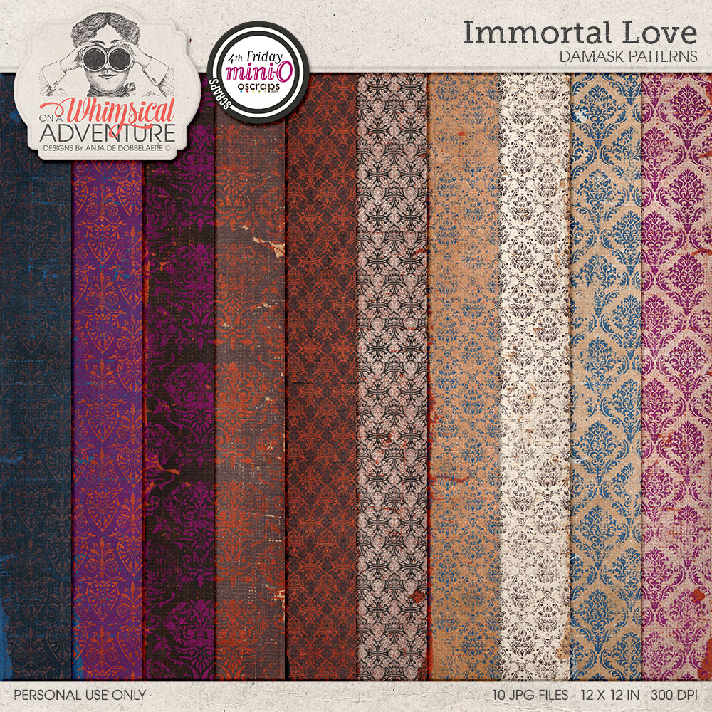 Immortal Love Damask Patterns
