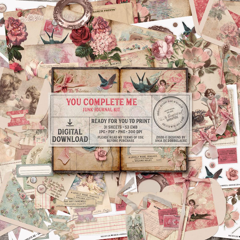 You Complete Me Junk Journal Kit
