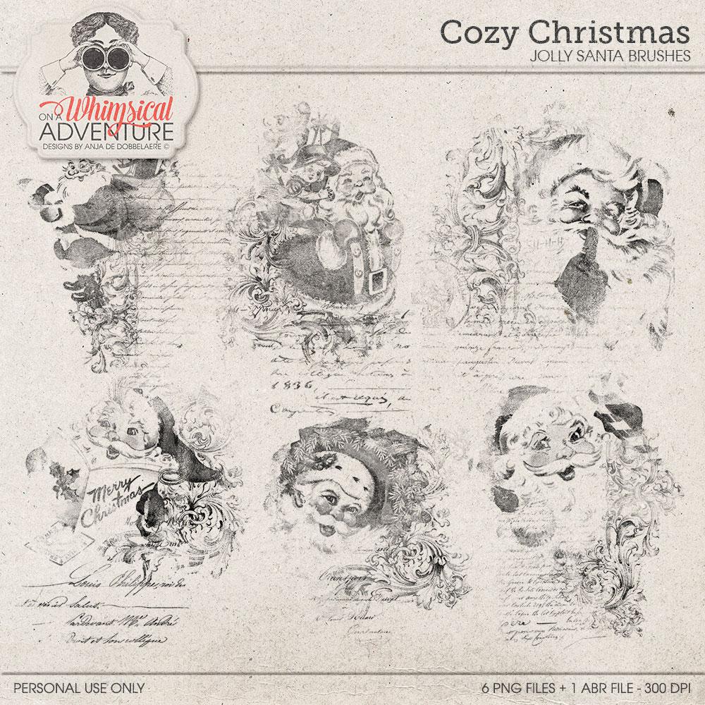 Cozy Christmas Jolly Santa Brushes