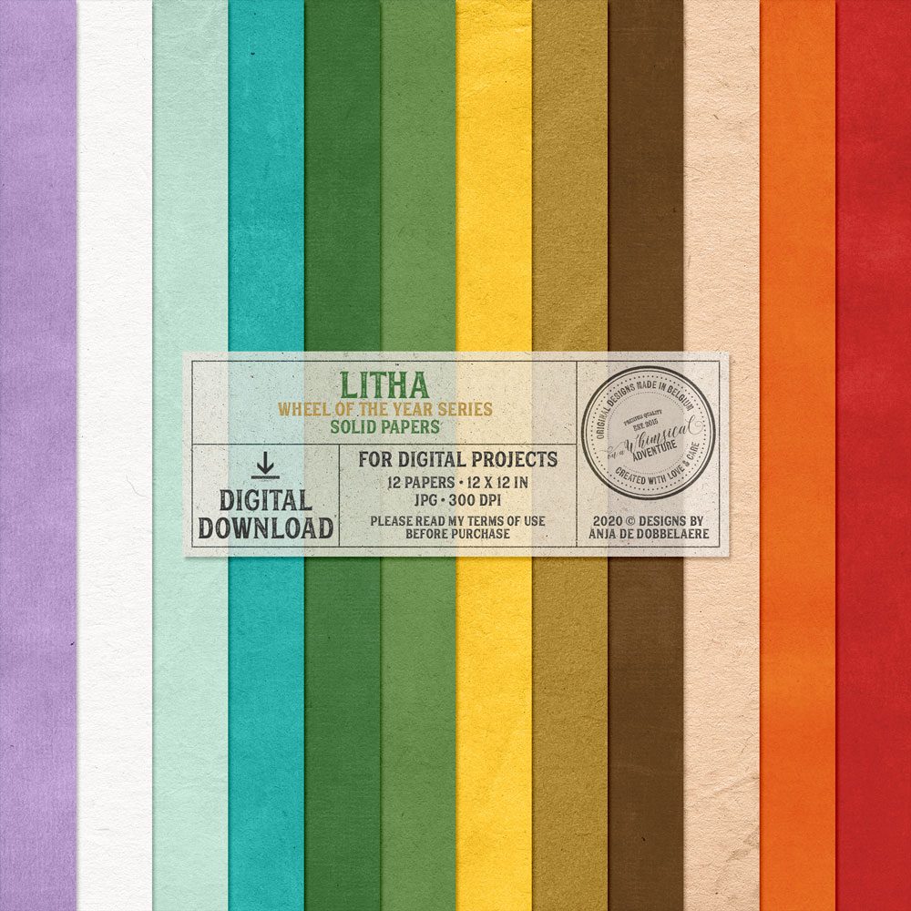 Wheel Of The Year Litha Solid Papers