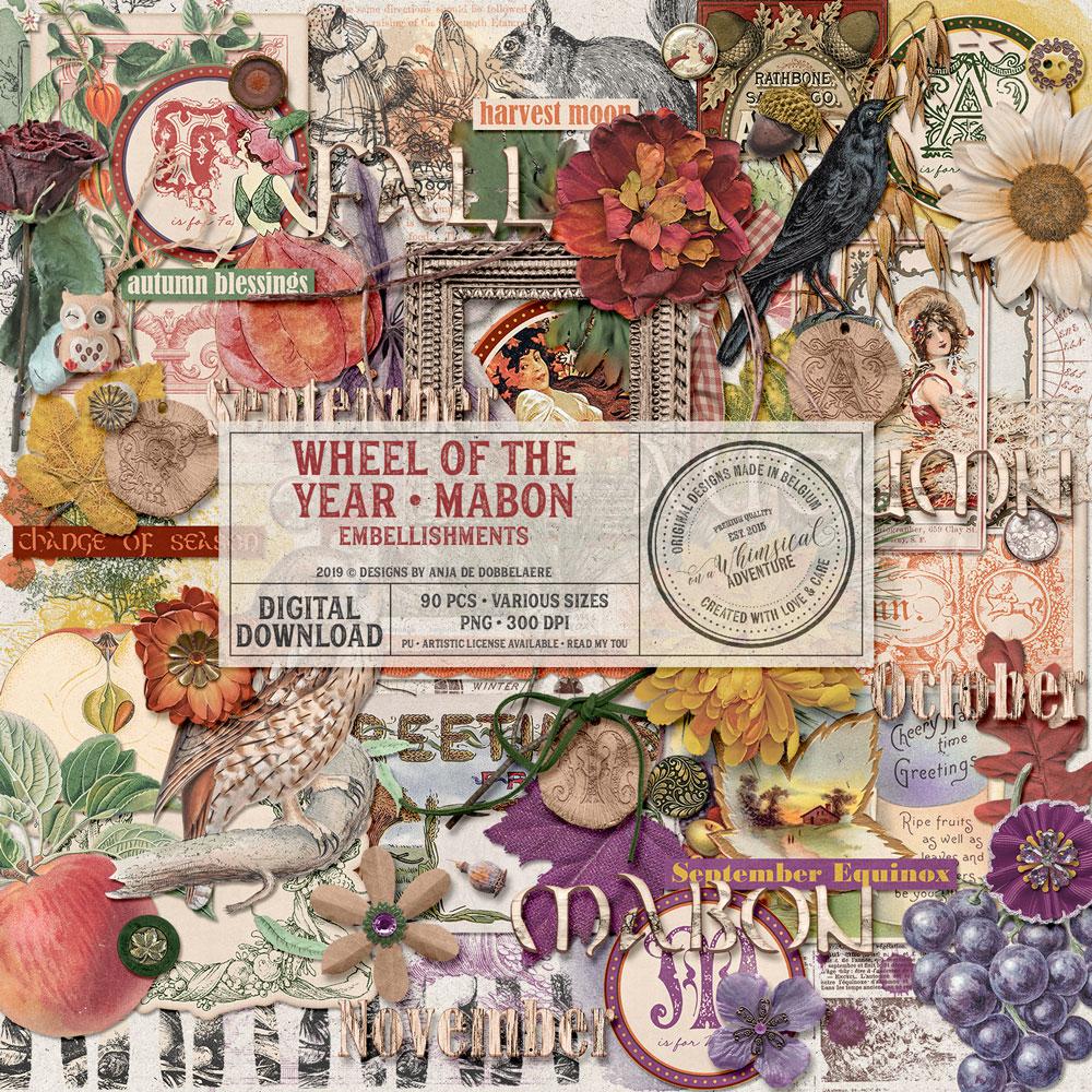 Wheel Of The Year Mabon Embellishments