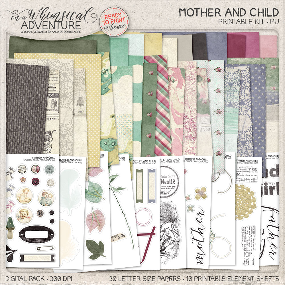 Mother And Child Printable Kit