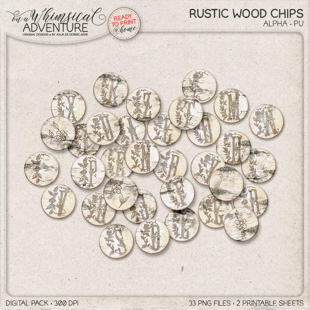 Rustic Wood Chip Alpha