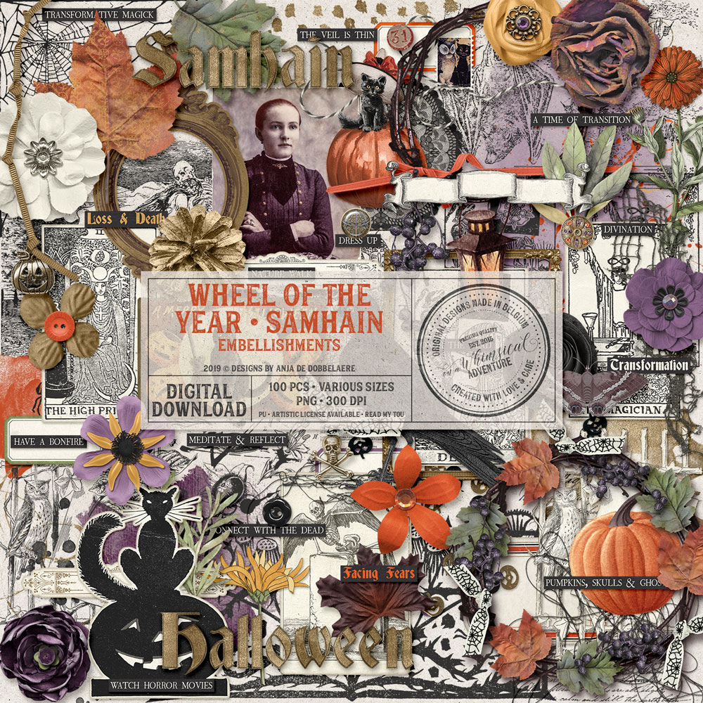 Wheel Of The Year Samhain Embellishments