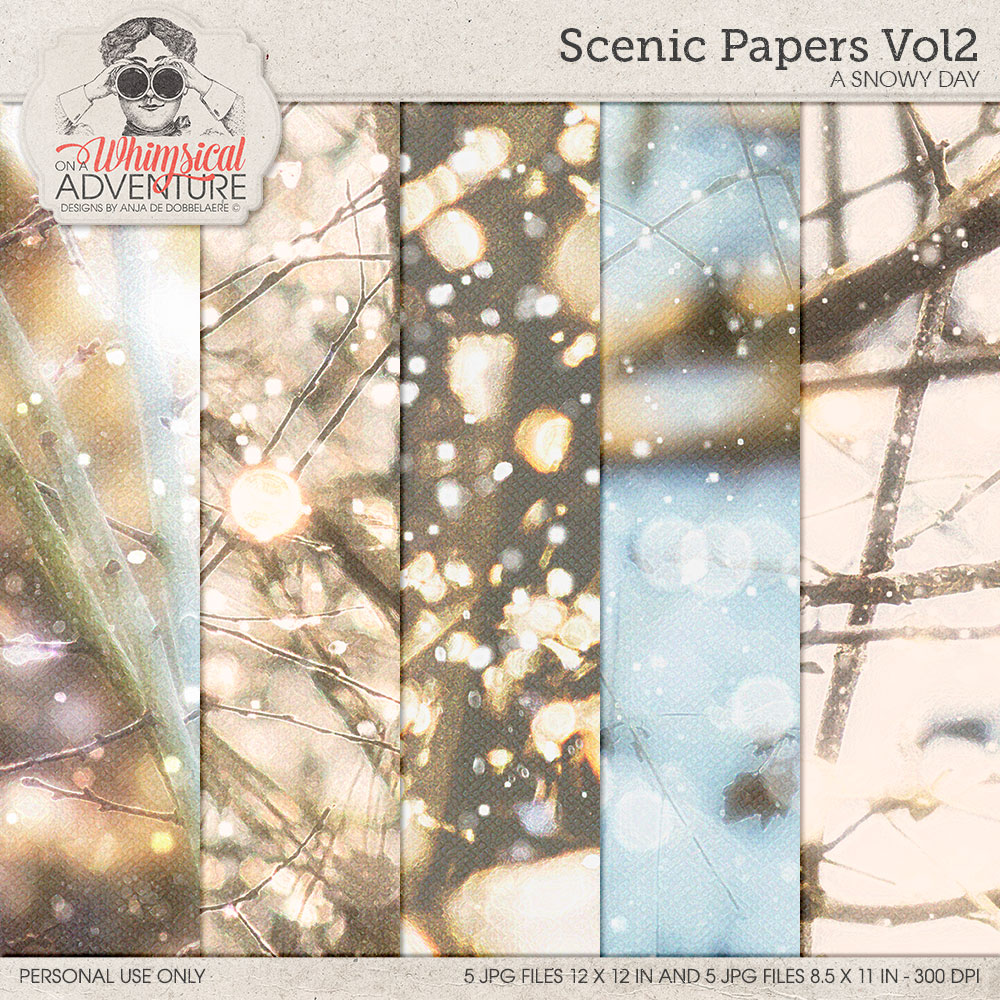 Scenic Papers Vol2 A Snowy Day
