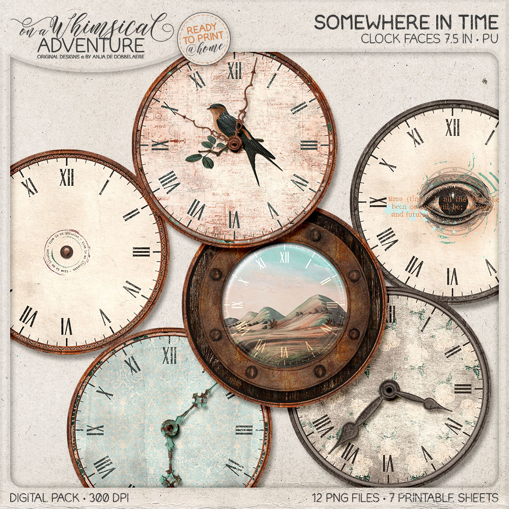 Somewhere In Time Clockfaces