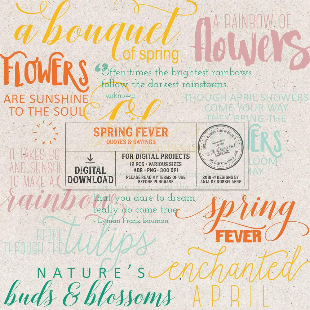 Spring Fever Word Art
