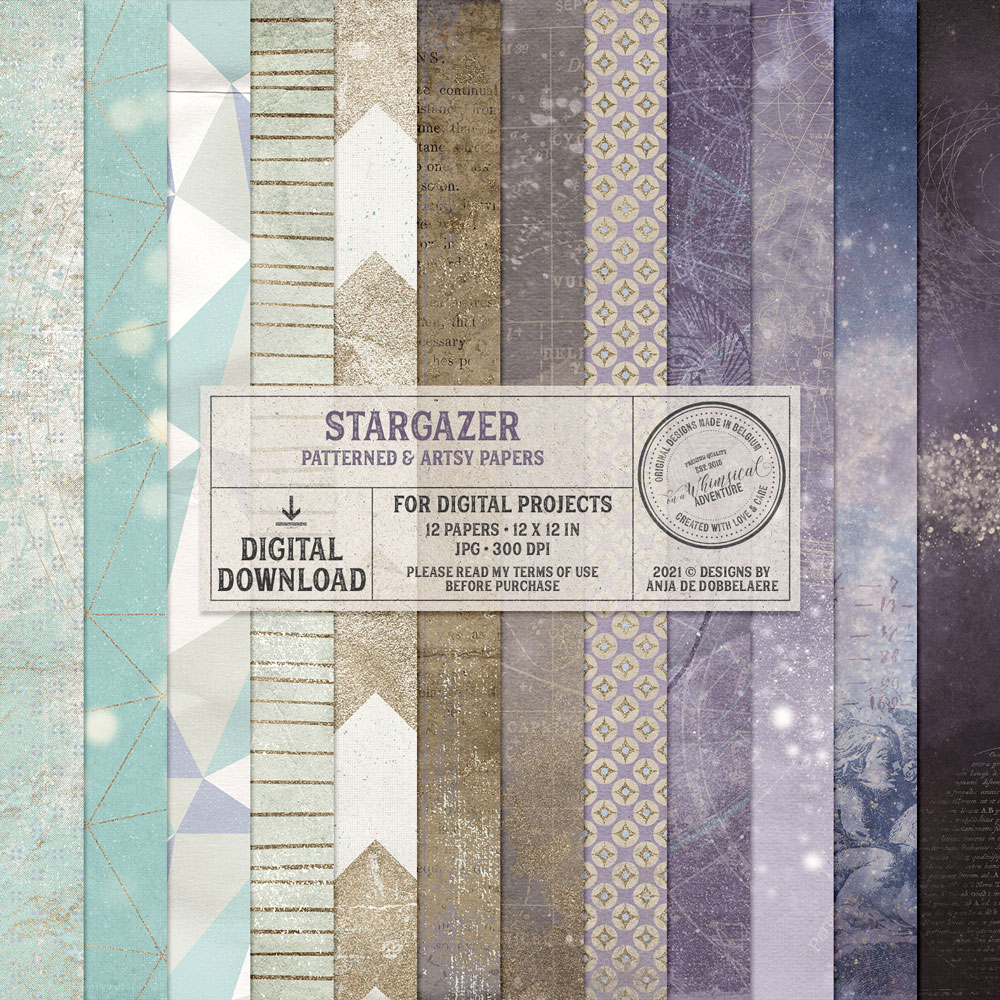 Stargazer Patterned And Artsy Papers