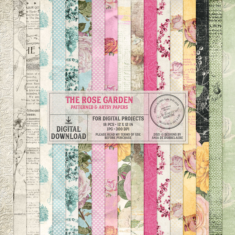 The Rose Garden Patterned And Artsy Papers