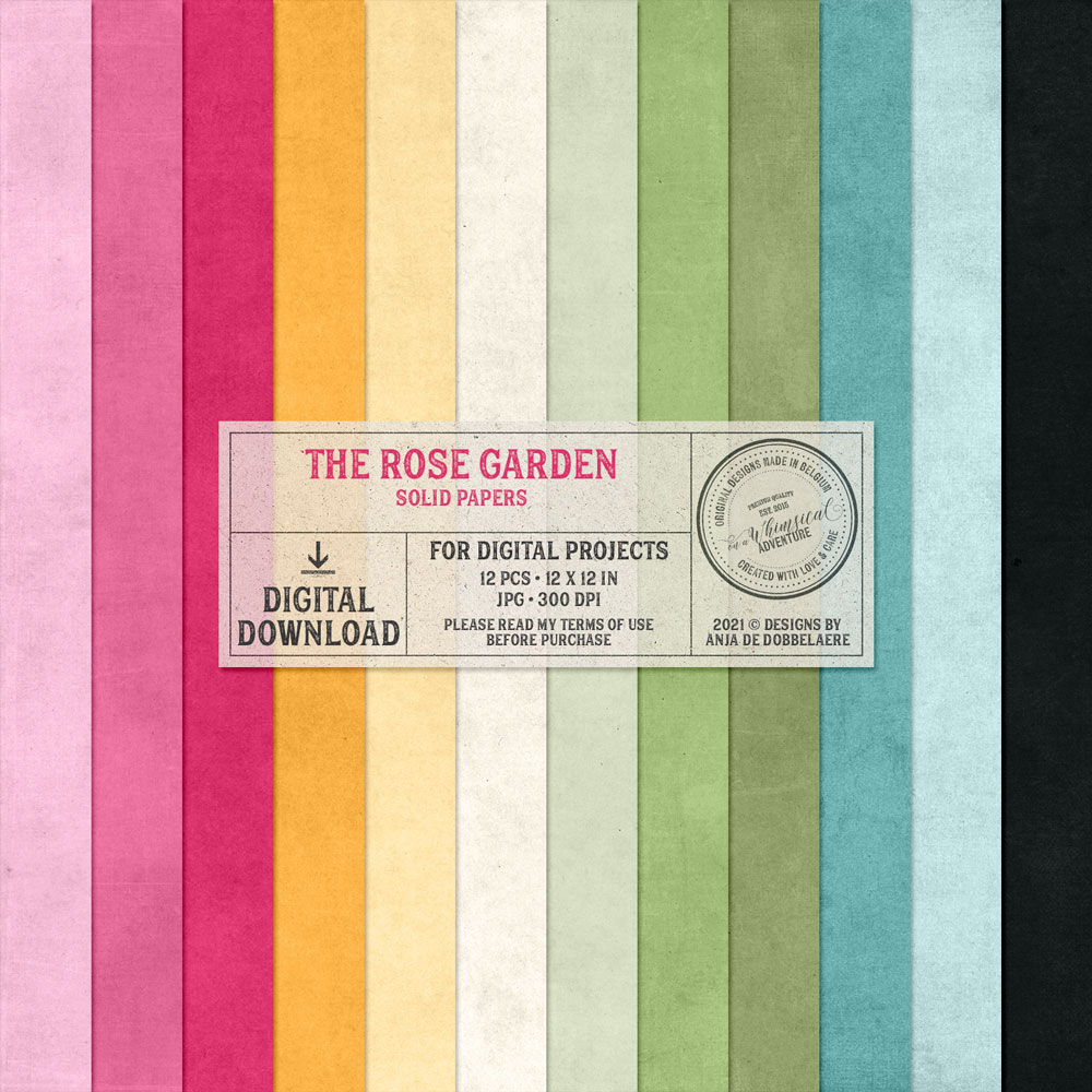 The Rose Garden Solid Papers