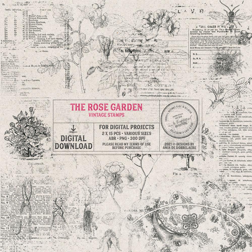 The Rose Garden Vintage Stamps
