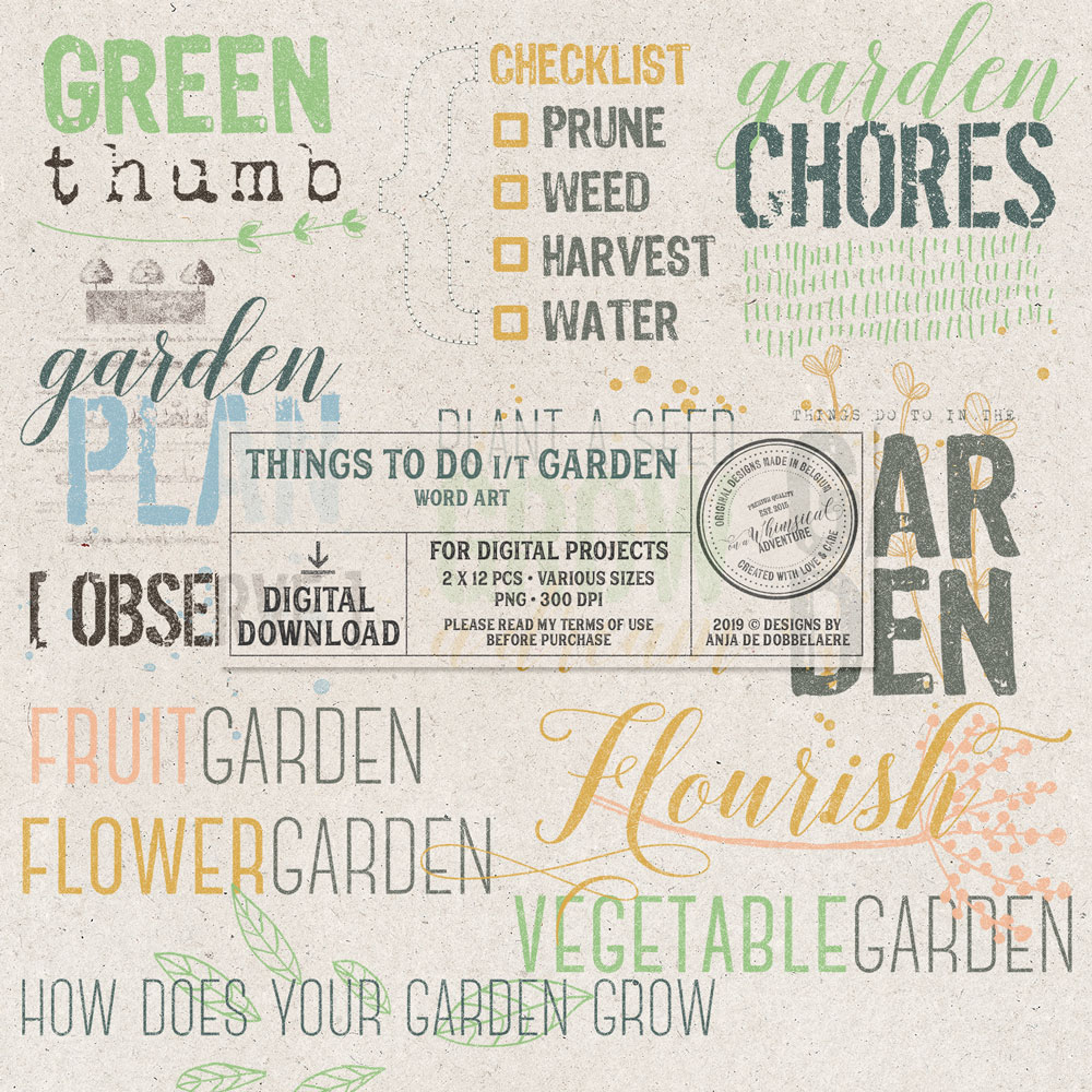 Things To Do In The Garden Words