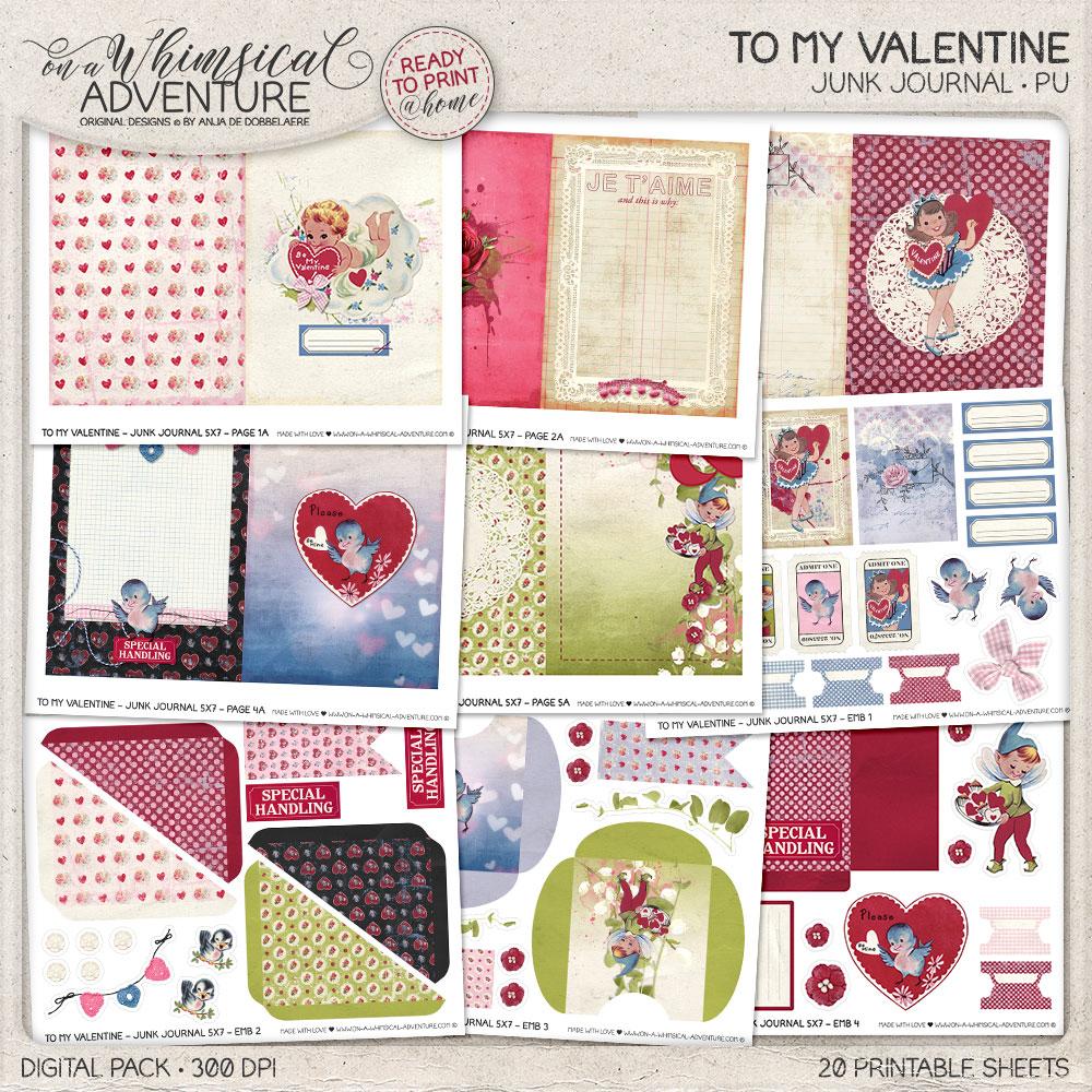 To My Valentine Junk Journal
