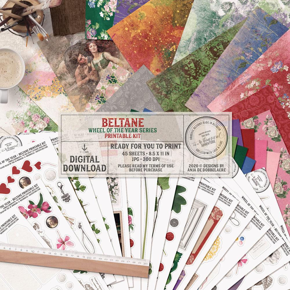 Wheel Of The Year Beltane Printable Kit