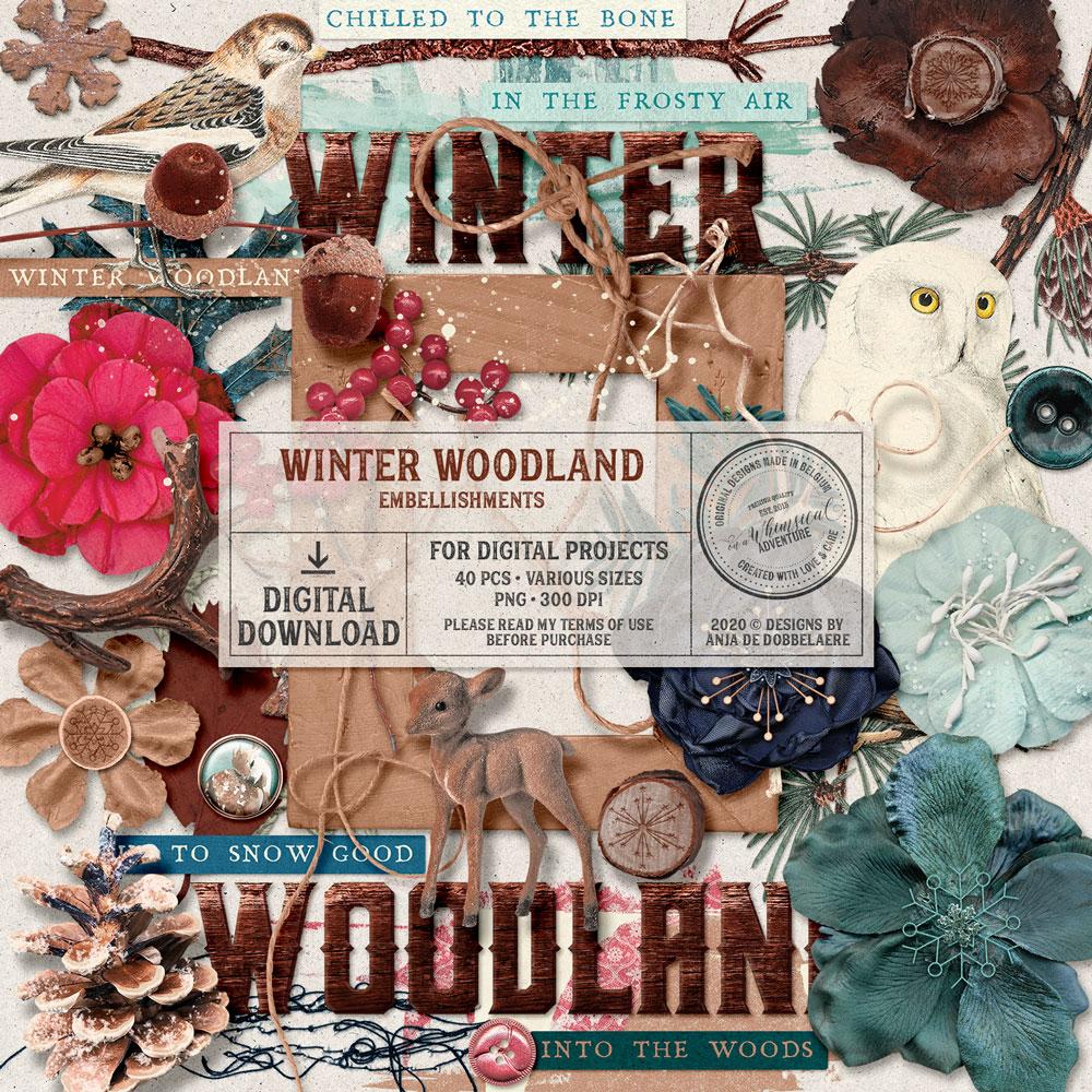 Winter Woodland Embellishments