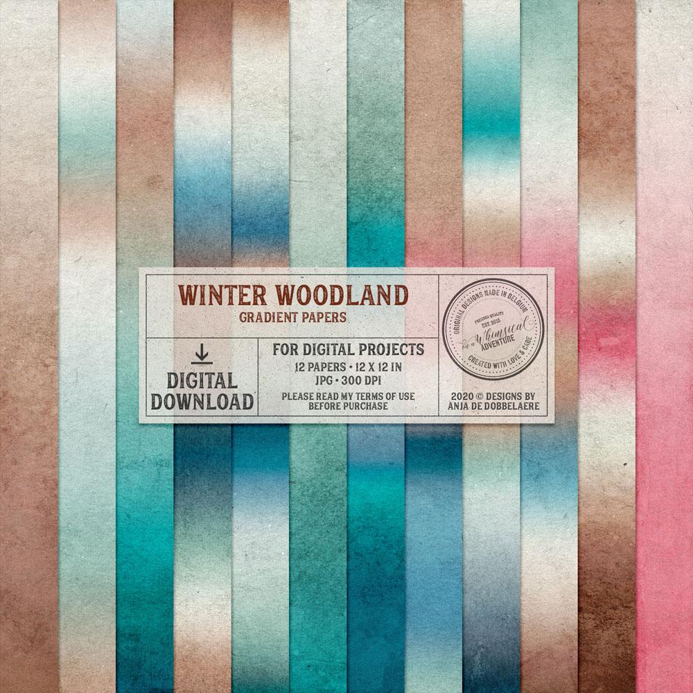 Winter Woodland Gradient Papers