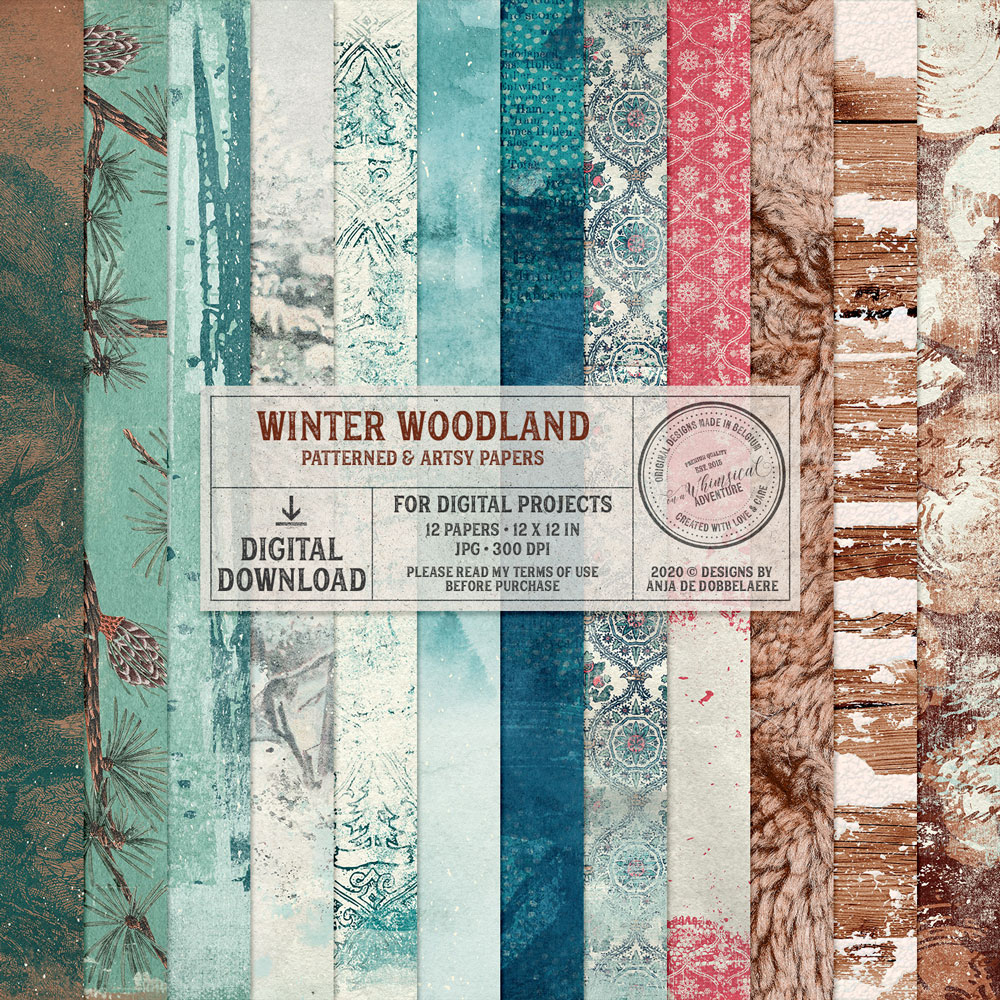 Winter Woodland Patterned And Artsy Papers