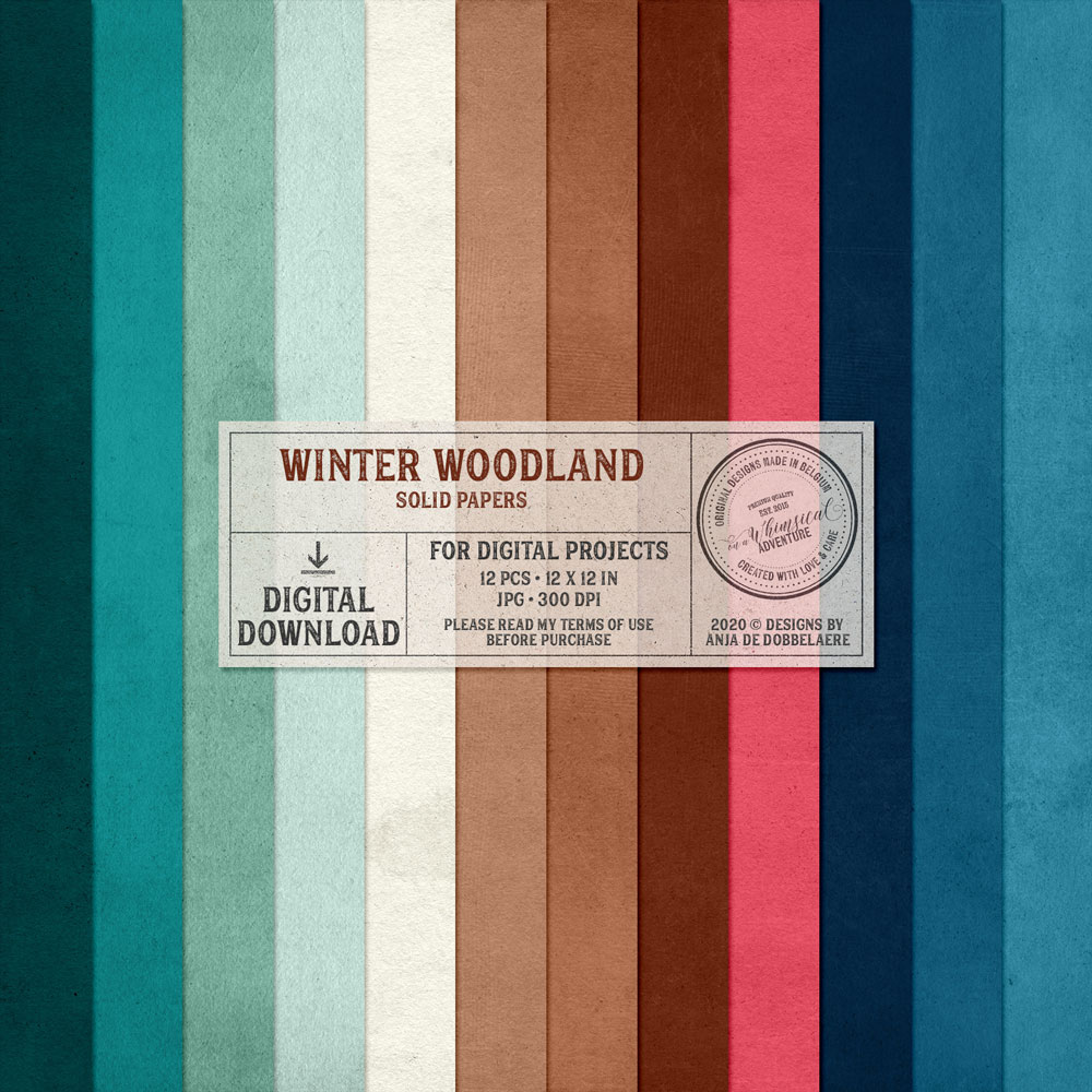 Winter Woodland Solid Papers