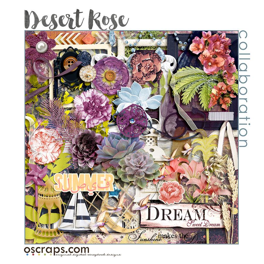 Desert Rose :: An Oscraps 2016 Collaboration